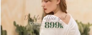 COMBO CHO QUÝ CÔ CÔNG SỞ  –  VÁY/QUẦN + ÁO CHỈ 899K